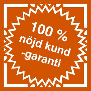 JSTA 100% nöjd kundgaranti